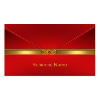 Elegant Business Card Red Gold Trim Red Jewel Business Card Template