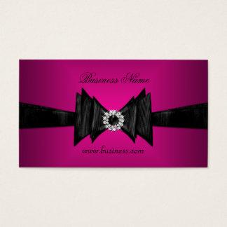Elegant Business Card Rich Pink Diamond Black