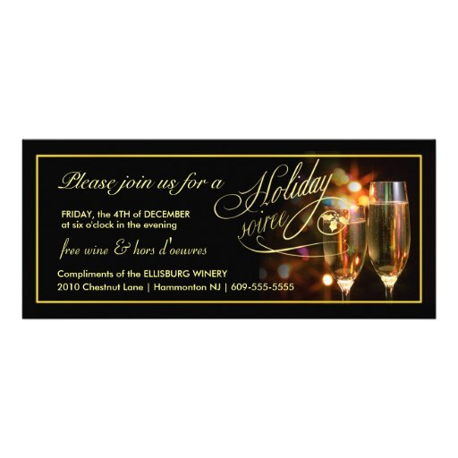 Elegant Business Holiday Party Invitations