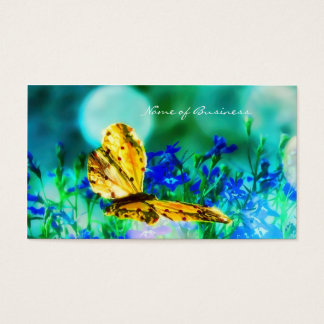 Elegant Butterfly Blue Flower Garden Business Card