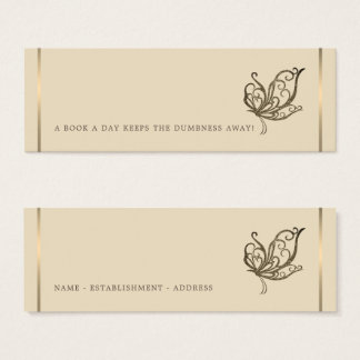 Elegant Butterfly Bookmark Mini Business Card