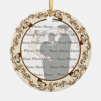 Elegant Butterfly Round Ornament