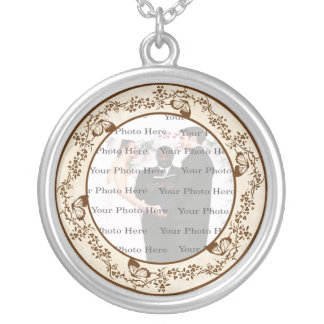 Elegant Butterfly Wedding Round Silver Necklace