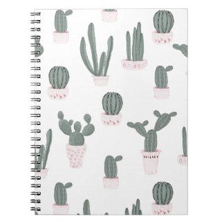 Elegant Cacti in Pots Pattern Notebook