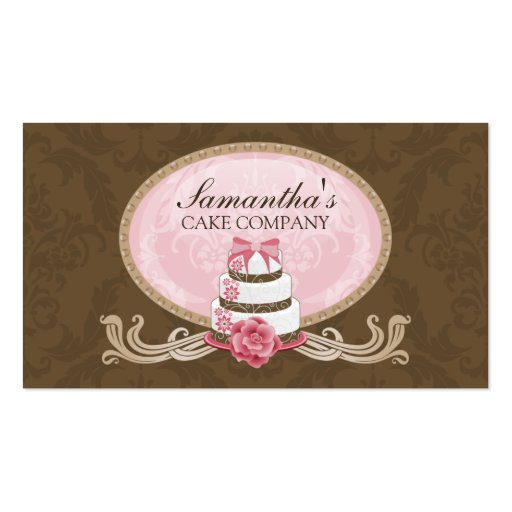 Elegant Cake Bakery Business Cards