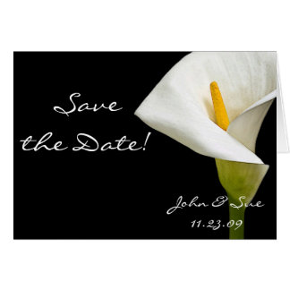 Elegant Cala Lily - Save the Date Card