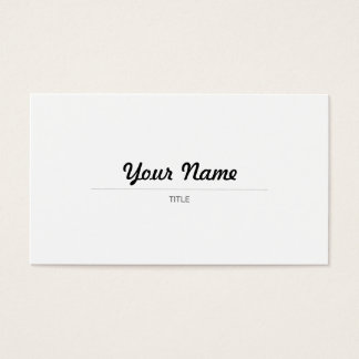 Elegant Caligráfico - EN Business Card