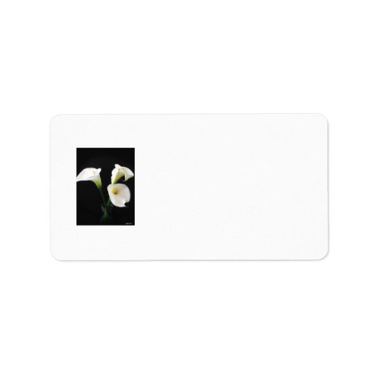 Elegant Calla Lily Flowers 12 Address Label