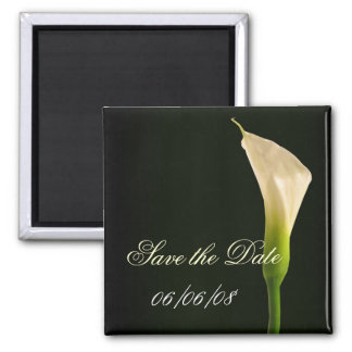 Elegant calla lily save the date magnet