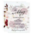 Elegant Calligraphy | Faded Floral Wedding Card