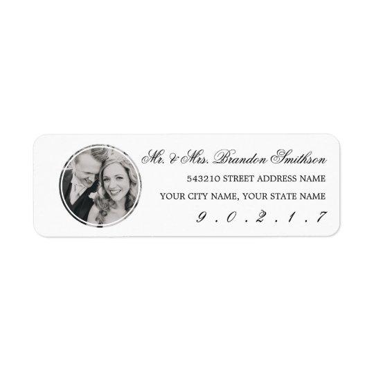 Elegant Calligraphy & Photo Address Label Stickers