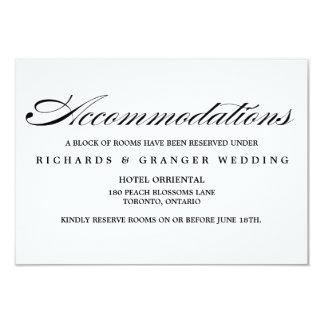 Elegant Calligraphy Script Wedding Accommodations Card