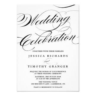 Elegant Calligraphy Script Wedding Invitation
