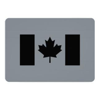 Elegant Canadian Flag in Black 13 Cm X 18 Cm Invitation Card
