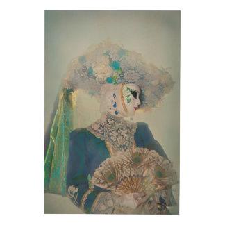 Elegant Carnival Costume, Venice Wood Wall Art