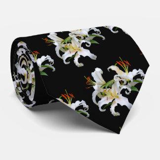Elegant Casablanca White Oriental Lilies Tie