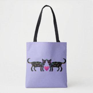 Elegant Cats Tote Bag