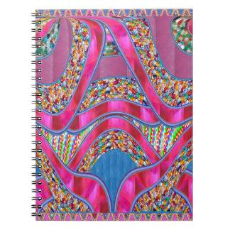 Elegant CELEBRATION Gift  Pink Silken Ribbon Gifts Spiral Notebooks