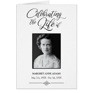 Elegant Celebration of Life Funeral Program Card