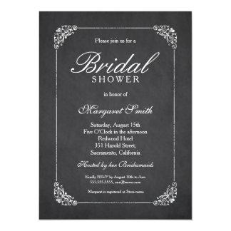 Elegant Chalkboard 5.5x7.5 Bridal Shower 14 Cm X 19 Cm Invitation Card