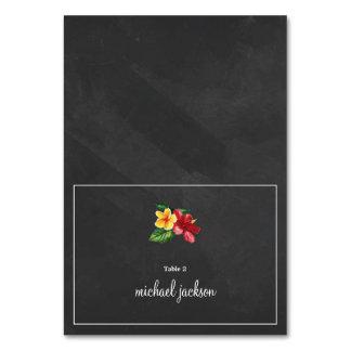 Elegant Chalkboard Floral Wedding Place Card