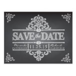 Elegant Chalkboard Save the Date Wedding Postcard
