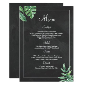 Elegant Chalkboard Wedding Menu Card Templates