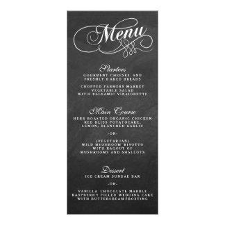 Elegant Chalkboard Wedding Menu Templates Custom Rack Card