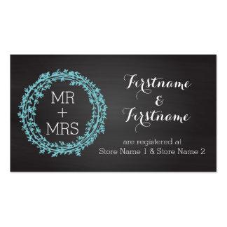 Elegant Chalkboard Wedding Registry & Website Card Business Cards