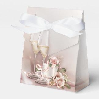 Elegant Champagne Wedding Favour Boxes