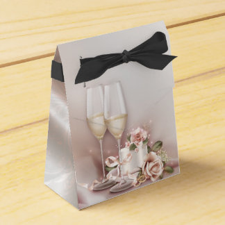 Elegant Champagne Wedding Party Favour Box