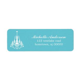 Elegant Chandelier Address Labels