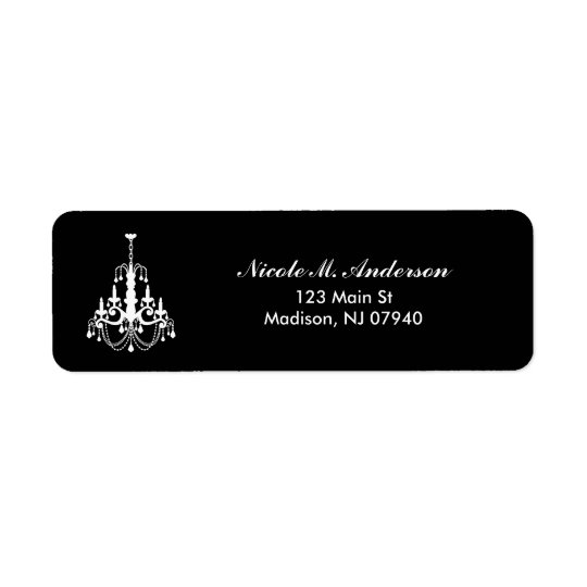 Elegant Chandelier Address Labels Return Address L