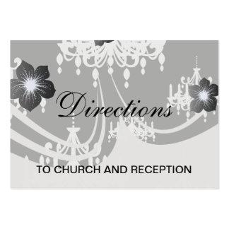 elegant chandelier black white damask large business cards (Pack of 100)