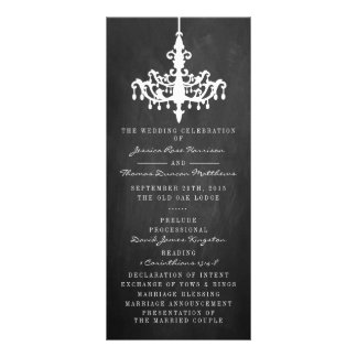 Elegant Chandelier Chalkboard Wedding Collection Rack Card