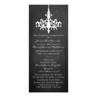 Elegant Chandelier Chalkboard Wedding Collection Full Color Rack Card
