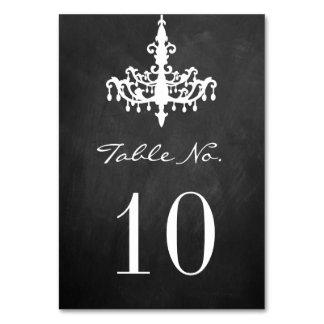 Elegant Chandelier Chalkboard Wedding Collection Table Card
