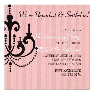 Elegant Chandelier Housewarming Party Invitation