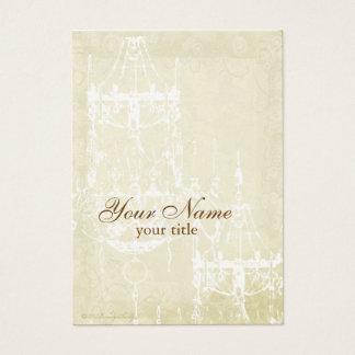 Elegant Chandelier Parchment Custom Business Cards
