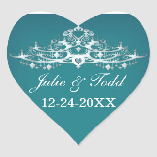 Elegant Chandelier Save The Date Wedding Stickers