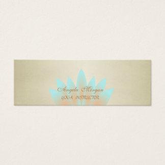Elegant Charming Professional Lotus Flower Mini Business Card