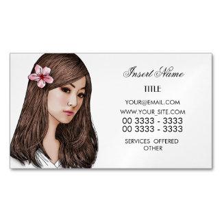 Elegant Cherry Blossom Magnetic Business Cards
