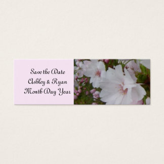 Elegant Cherry Blossom Save the Date Mini Business Card