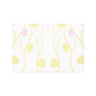 Elegant cherry blossoms stretched canvas print