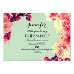 Elegant Cherry Blossoms on Rustic Teal 13 Cm X 18 Cm Invitation Card