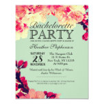 Elegant Cherry Blossoms on Rustic Teal 11 Cm X 14 Cm Invitation Card