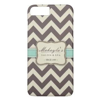 Elegant Chevron Modern Brown, Green and Beige iPhone 7 Plus Case