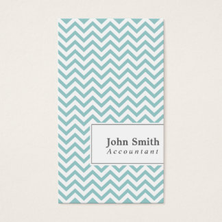 Elegant Chevron Stripes Accountant Business Card