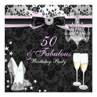 Elegant Chic 50 & Fabulous Birthday Invitation