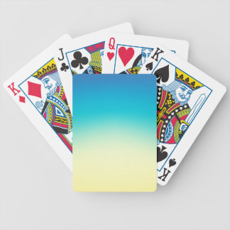 Elegant & Chic Blue Teal Gold Ombre Watercolor Bicycle Playing Cards